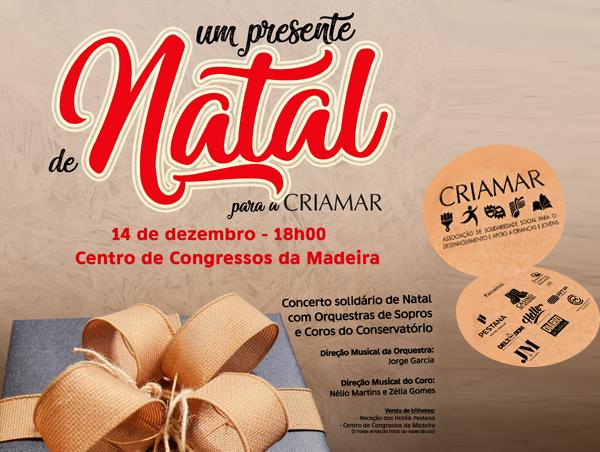 Concerto Solidário de Natal vai ajudar a CRIAMAR