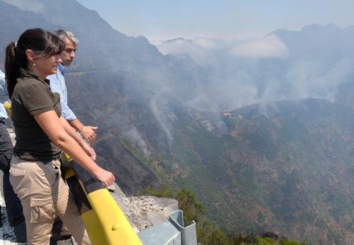 Susana Prada visita a área dos fogos