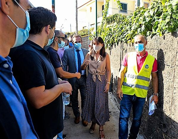 Susana Prada visitou obras de saneamento em Câmara Lobos