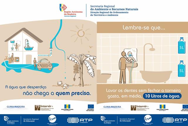 Ambiente sensibiliza para a poupança de água
