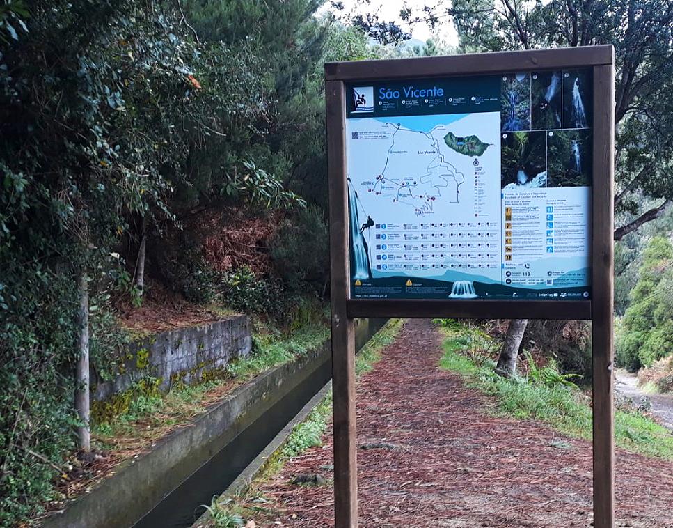 Sinalética para praticantes de canyoning