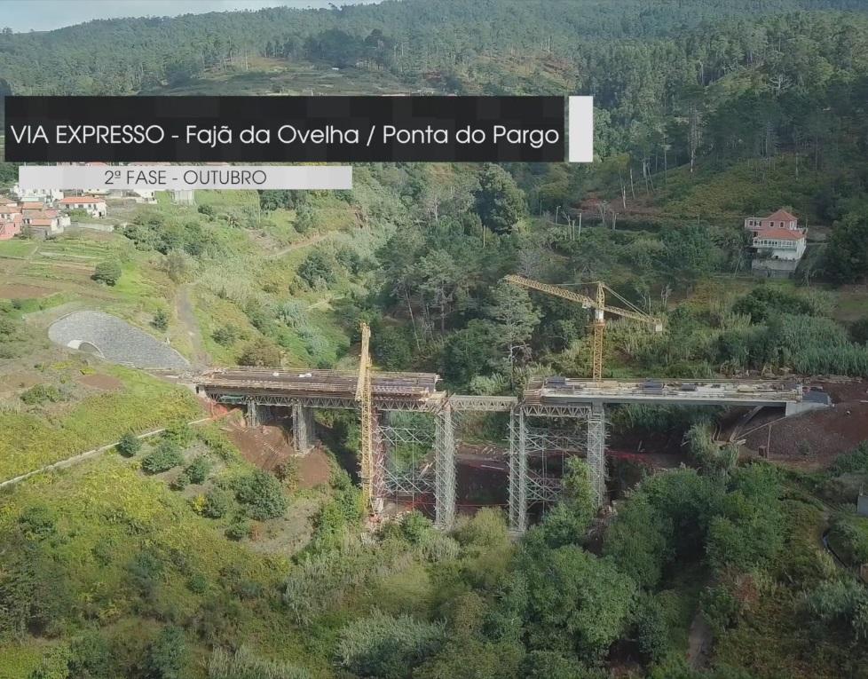 """Empreitada de Construção da """"Via Expresso Fajã da Ovelha / Ponta do Pargo - 2.ª Fase"""""""